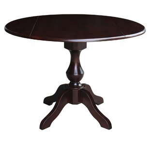 Pattie Drop Leaf Solid Wood Dining Table Canora Grey