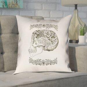 Brayden Studio Enciso Vintage Decorative Square Skull