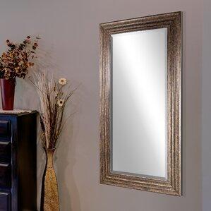 Wall Full Length Mirror full length wood frame mirror | wayfair