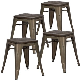 Alyssa 18 Bar Stool (Set of 4) Zipcode Design