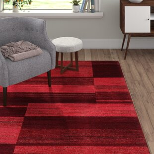Handmade Dark Red Area Rug by Hazelwood Home