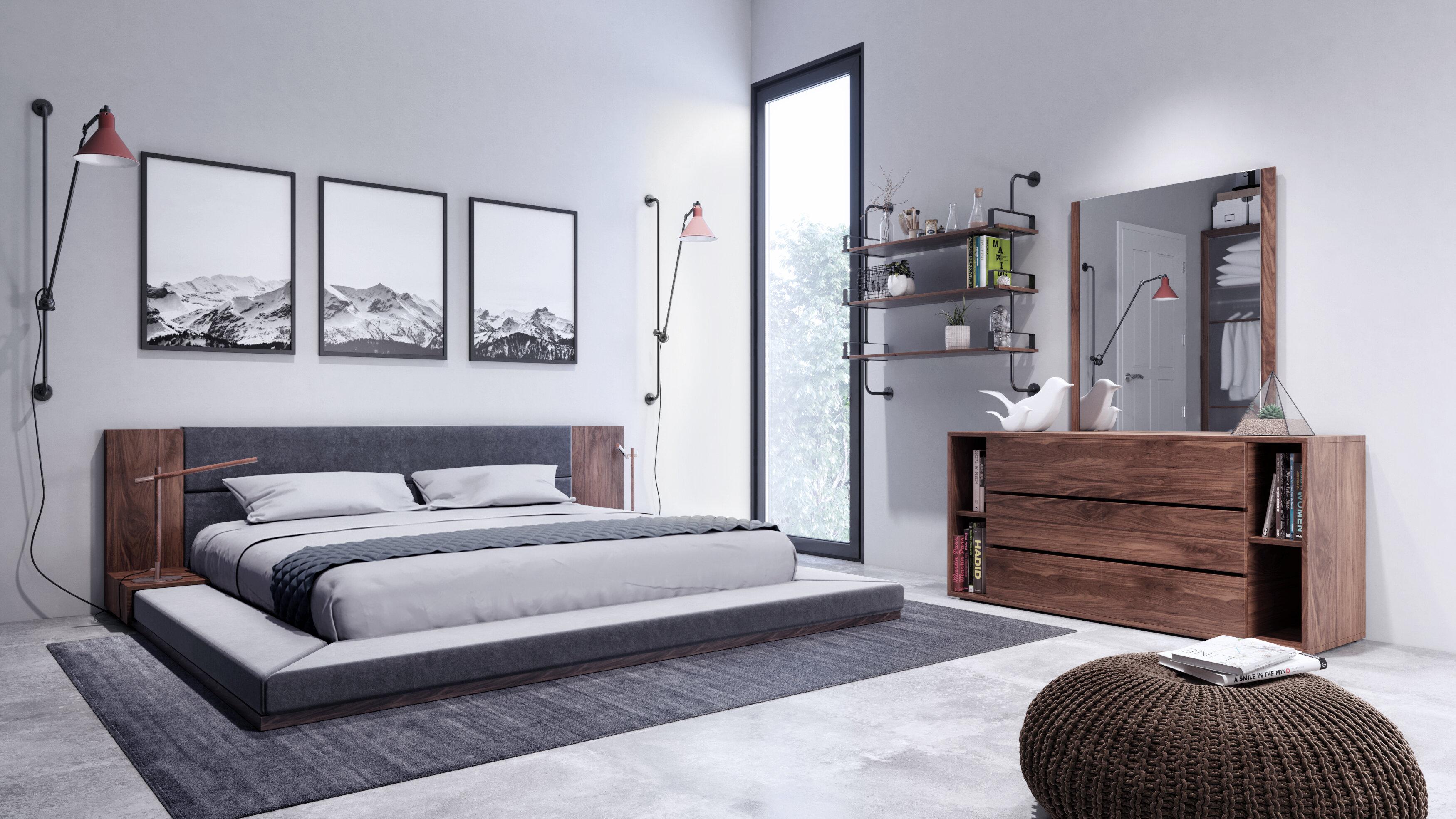 Fine Defalco Platform 3 Piece Bedroom Set Download Free Architecture Designs Intelgarnamadebymaigaardcom