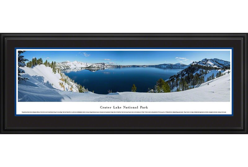 Vault W Artwork Crater Lake National Park Winter By James Blakeway Framed Photographic Print Wayfair