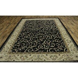 Melissa Oushak Oriental Hand-Tufted Wool Black Area Rug ByAstoria Grand