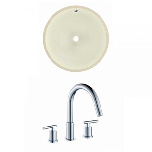 Best Choices Ceramic Circular Undermount Bathroom Sink with Faucet and Overflow ByRoyal Purple Bath Kitchen