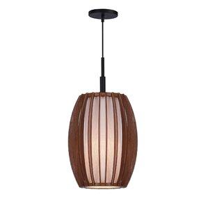 fins wood 1light mini pendant