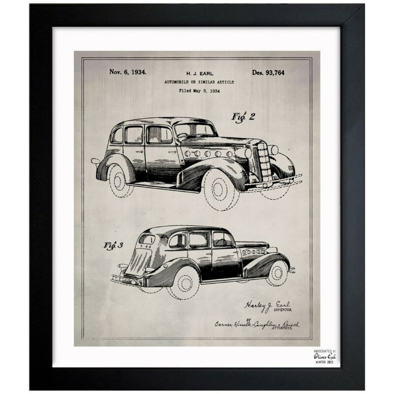 Oliver Gal Automobile I 1934 Wrapped Canvas Graphic Art Print On Canvas Wayfair