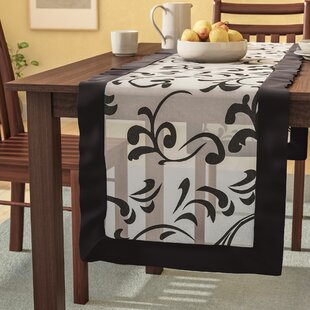 Carignan Flocked Design Motif Table Runner