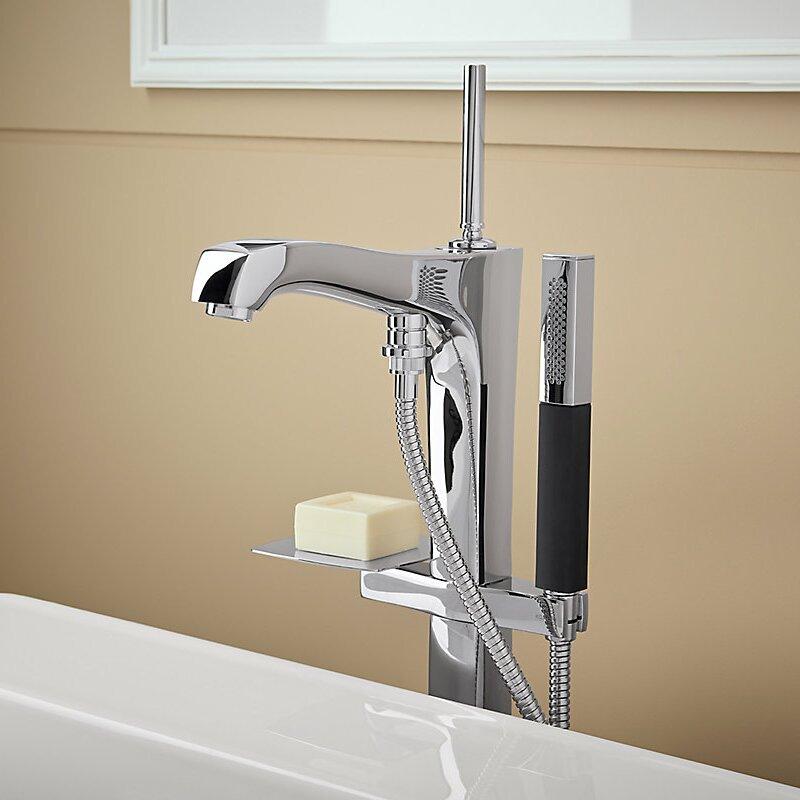 Margaux Floor Mount Bath Filler With Hand Shower