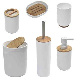 Padang Bamboo 6 Piece Bathroom Accessory Set ByEvideco