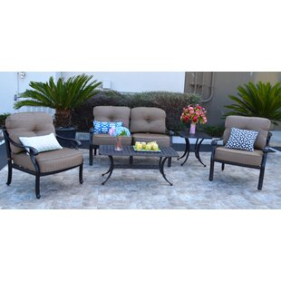 Nola 5 Piece Sunbrella Sofa Set with Cushions