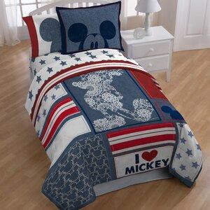 Mickey Americana 5 Piece Full Bedding Set