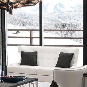 Ava Leather Loveseat by Willa Arlo Interiors