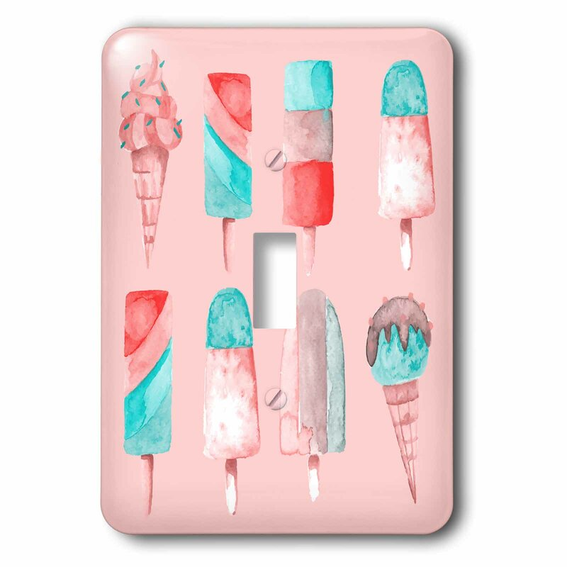 3drose Ice Cream Popsicle 1 Gang Toggle Light Switch Wall Plate Wayfair