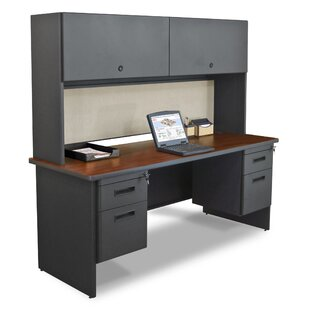Crivello 4 Drawers and Door Computer Desk with Hutch