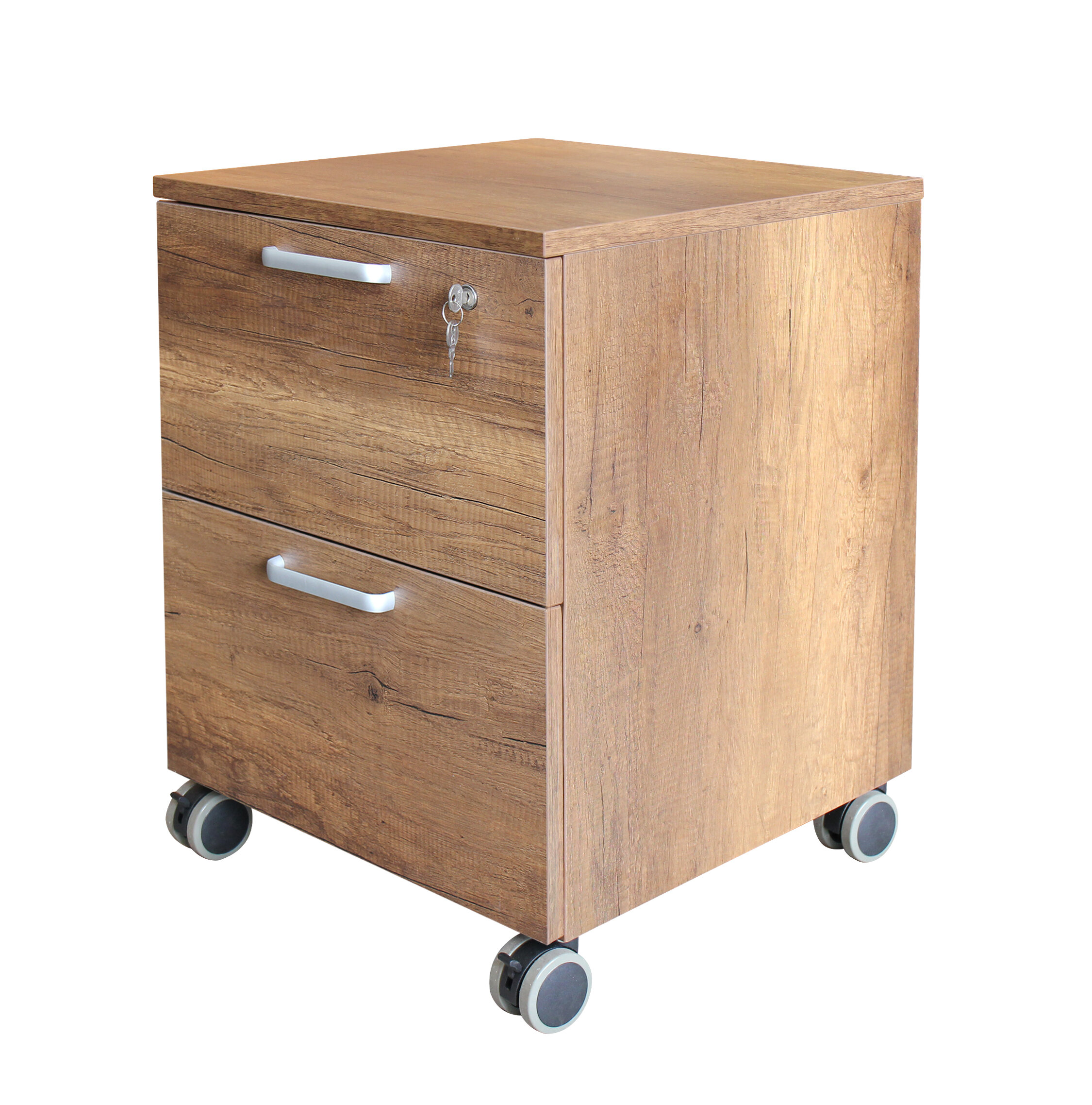 Pamila Wood 2 Drawer Mobile Vertical Filing Cabinet