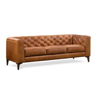 Renae Leather Chesterfield Sofa