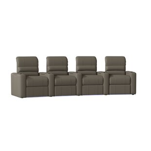 Waterfall Blue LED Home Theater Curved Row Seating (Row of 4) By Latitude Run