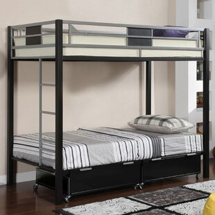 Mitcheldean Twin over Twin Bunk Bed with Mattress