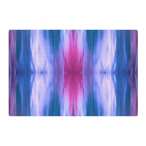 Ebi Emporium Butterfly Tribal 3 Painting Blue/Magenta Area Rug