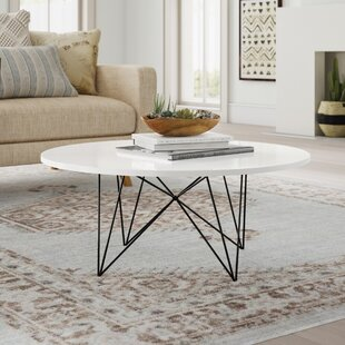 Vida Lacquer White Coffee Table