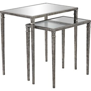 Bowlin 2 Piece Mirrored Nesting Table by Willa Arlo Interiors