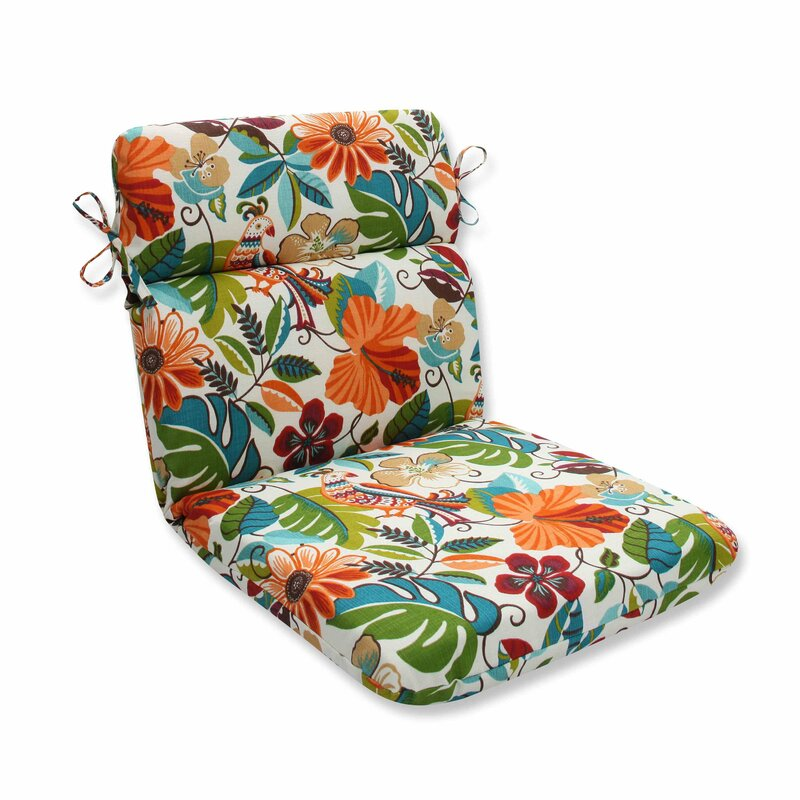 Bay Isle Home Guadaloue Florals And Leaves Indoor Outdoor Dining Chair Cushion Reviews Wayfair