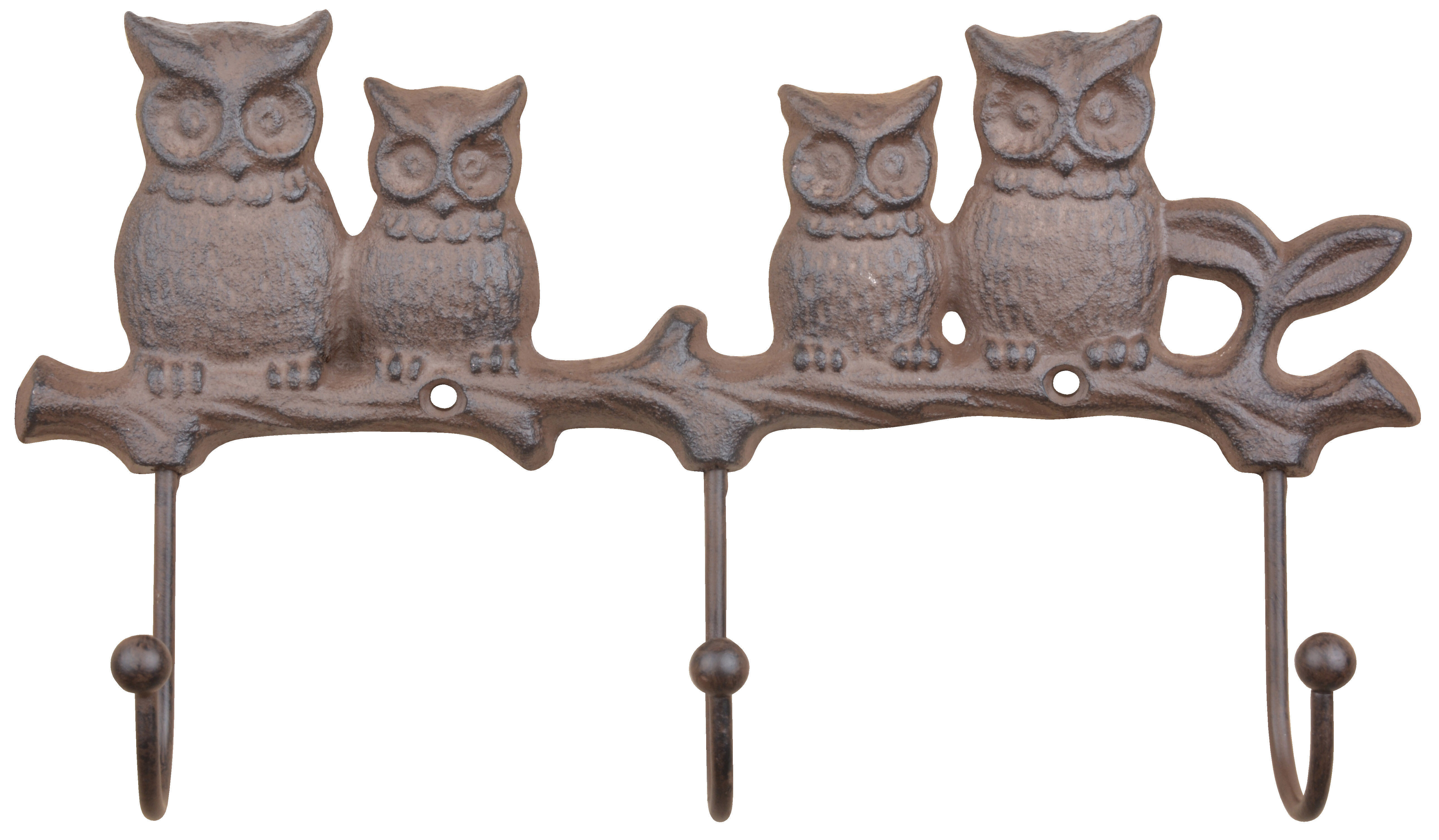 """8 BROWN HALF ROUND SIMPLE WALL COAT KEY HOOKS RUSTIC ANTIQUE-STYLE CAST IRON 2/"""""""