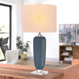 Mcmillen Ribbed Glass 35 Table Lamp