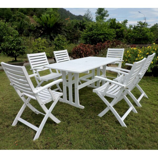 Beachcrest Home Bristol 7 Piece Patio Dining Set U0026 Reviews | Wayfair