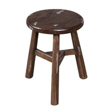 Escobar Farmhouse Dining Stool - Notched Sable   Vintage Ivory by Wildon Home
