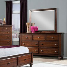 Newport 7 Drawer Dresser with Mirror by Cambridge