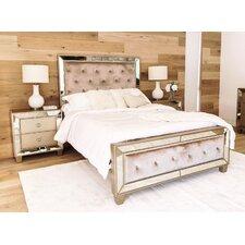 Alasdair Mirrored Tufted Platform 3 Piece Bedroom Set by Willa Arlo Interiors