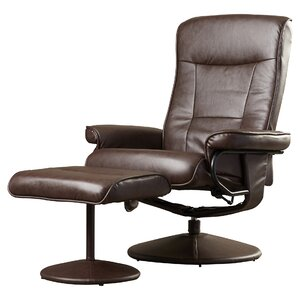 Holden Heated Faux Leather Reclining Massage Chair & Ottoman by Zipcode Design