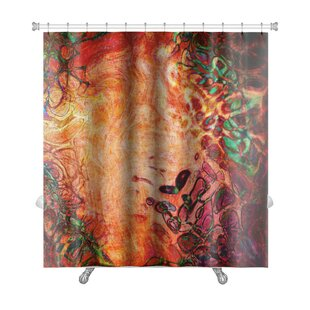 Art Beta Watercolor Abstract Pattern Computer Generated Premium Single Shower Curtain