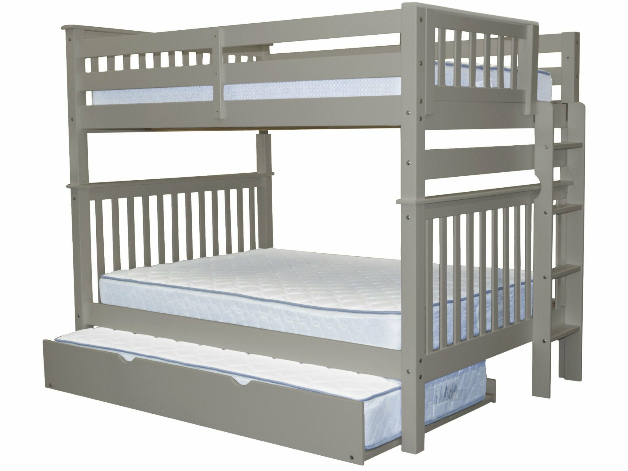 Harriet Bee Treva Full Over Full Bunk Bed With Trundle Reviews