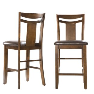 Dahlonega Solid Wood Dining Chair (Set of 2) Charlton Home