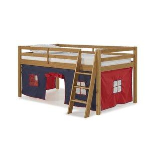 Gladwin Traditional Twin Low Loft Bed by Zoomie Kids