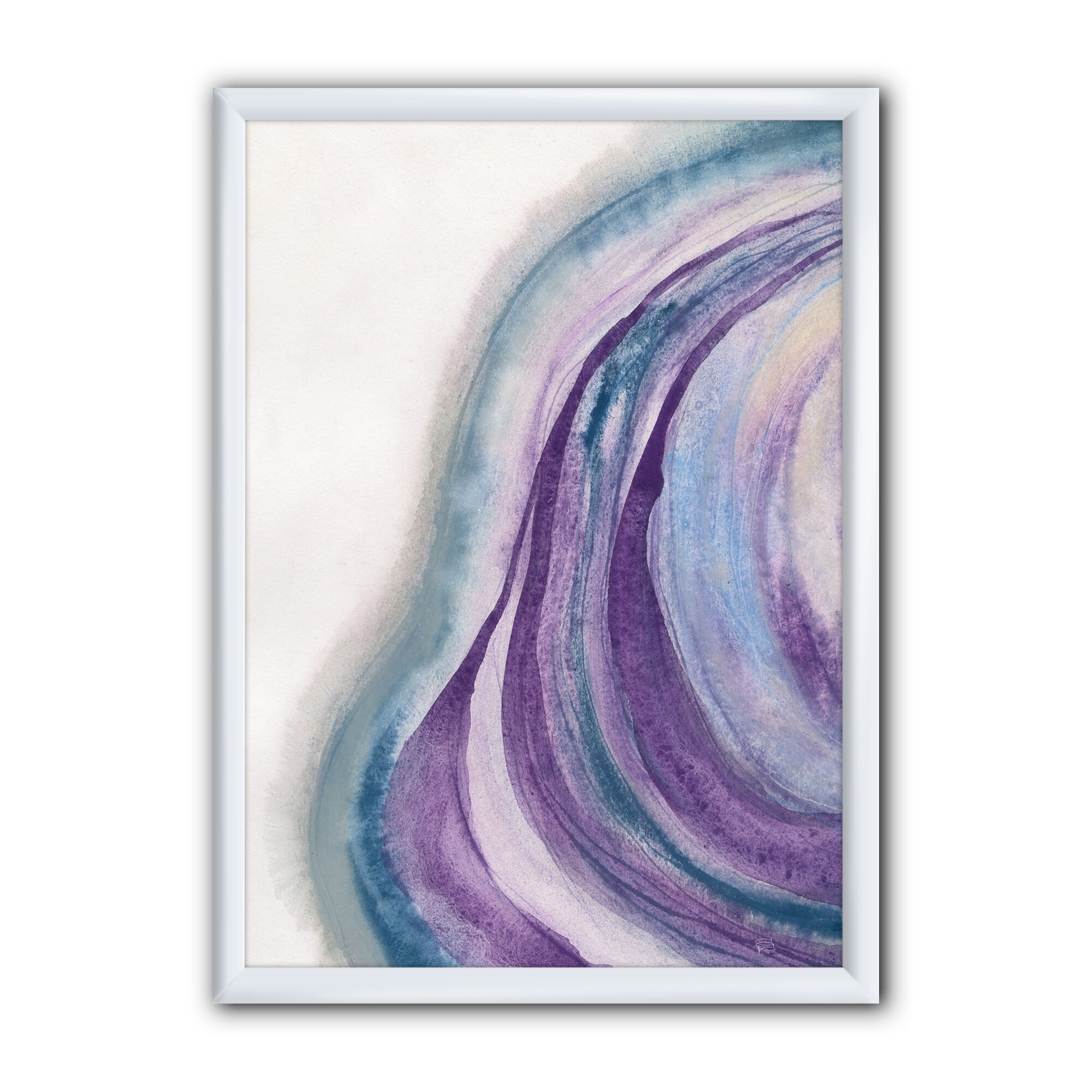 East Urban Home Watercolor Geode Ii Picture Frame Print On Canvas Wayfair