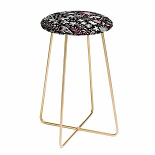Ninola Design Winter Ink Flowers 30 Bar Stool East Urban Home