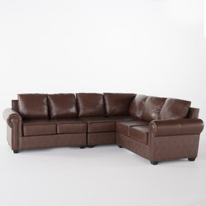 Kerry Leather Sectional by Home Loft Concepts