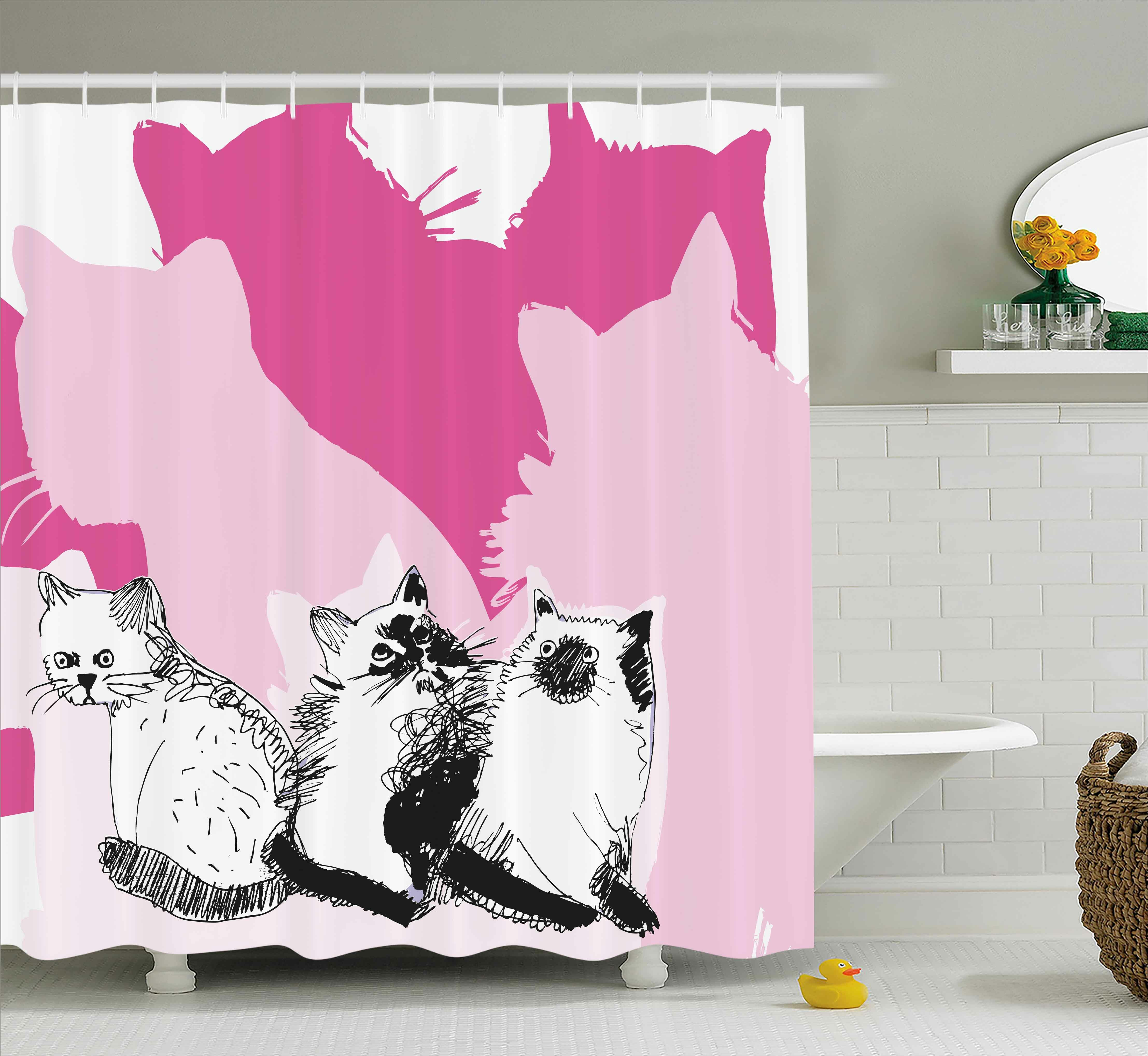 East Urban Home Kittens Shower Curtain