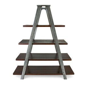 Blondelle Metal and Wood Ladder Bookcase 17 Stories