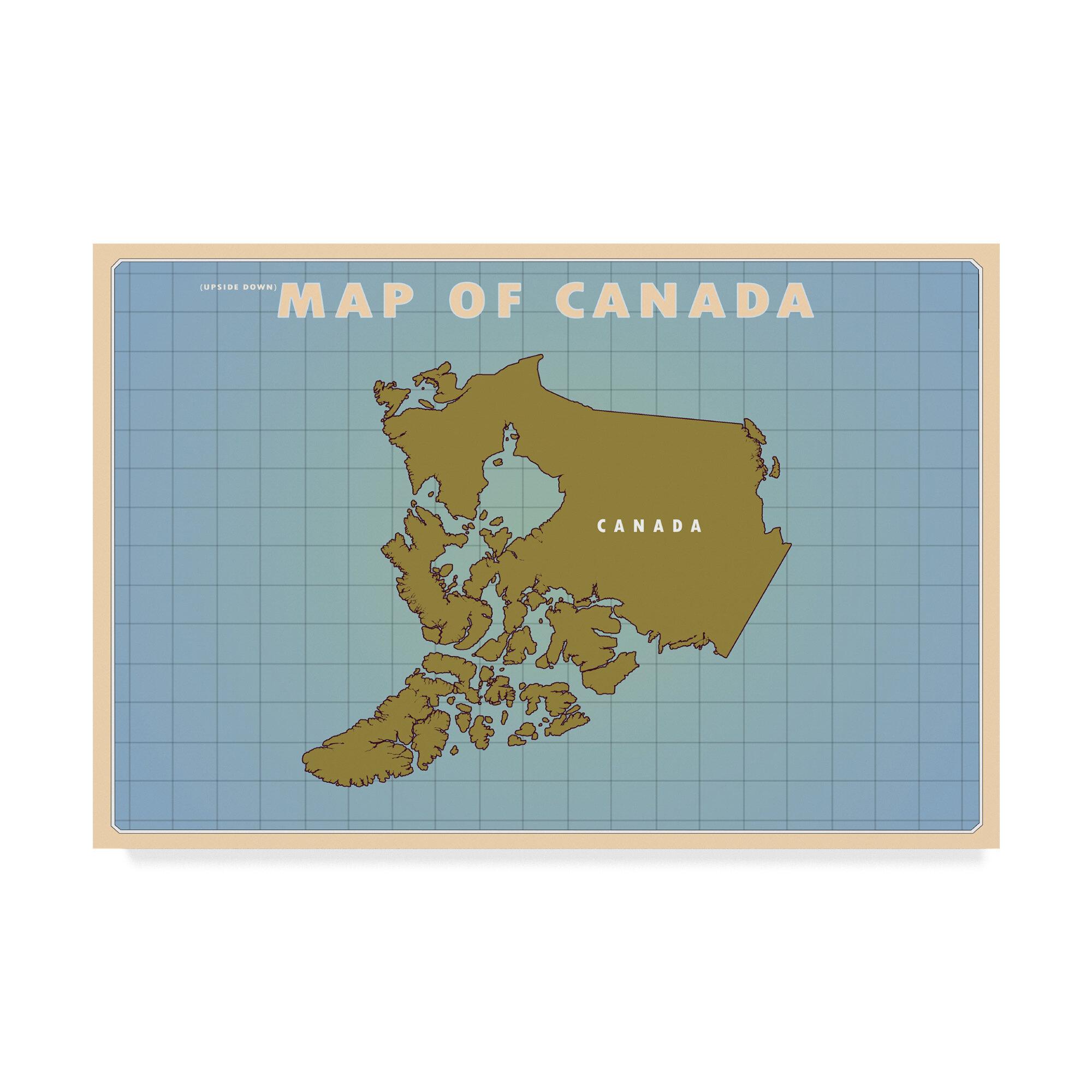 Trademark Art Upside Down Canada Graphic Art Print On