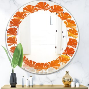 Leaves Agate in Wave Pattern Modern Frameless Wall Mirror by East Urban Home