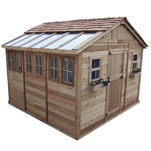 D Solid Wood Storage Shed