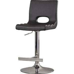 Gulfport Adjustable Height Swivel Bar Stool by Wade Logan
