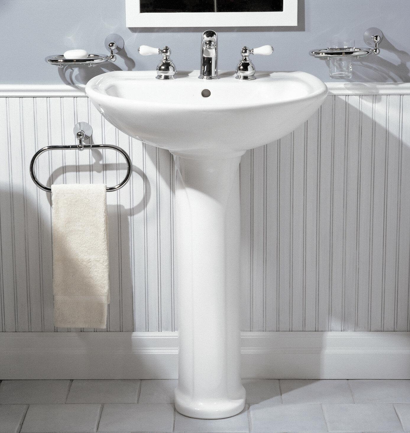 American Standard Cadet Ceramic 25 Pedestal Bathroom Sink With Overflow Reviews Wayfair