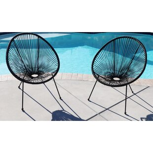 Gena Papasan Patio Chair (Set of 2)