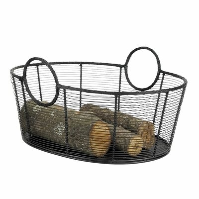 Gracie Oaks Nave Wrought Iron Basket Size: Larger